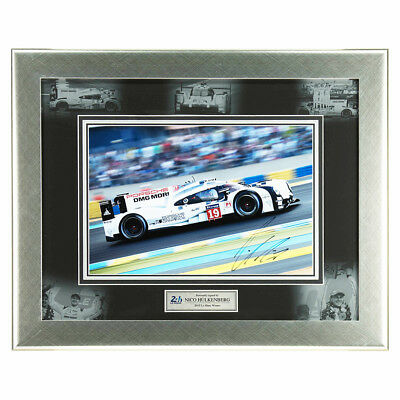 Signed Nico Hulkenburg 24 Hours Le Mans Deluxe Framed Photo Display