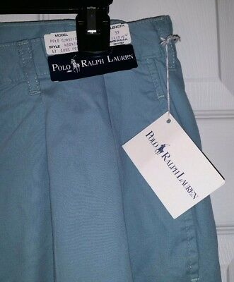 Vintage Polo Ralph Lauren Chino Cotton Pants Pleated Made In USA 36x32 New