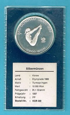 Korea, 10.000 Won, 1987, Olympia 1988, ---Silber--- in PP