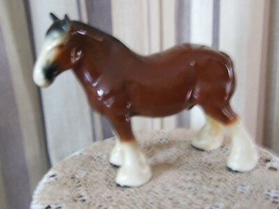 "Vintage  Large Shire Horse  9 1/2""  high  - Unboxed"