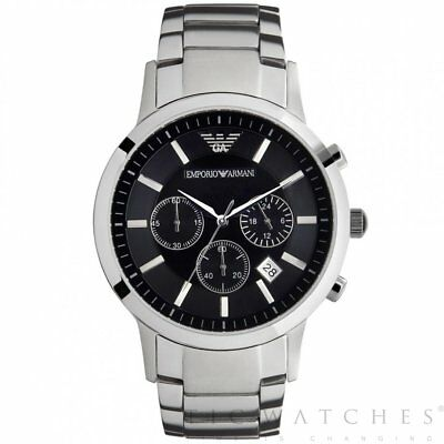 New Emporio Armani Ar2434 Stainless Steel Chronograph Mens Watch - Rrp £299