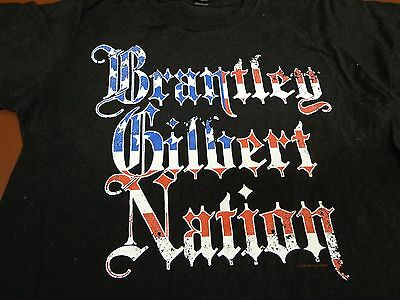 BRANTLEY GILBERT Nation Country Music Concert Tour  T-Shirt Small   R2