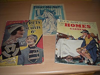 Collection Of 3 Vintage Magazines -Much Ladies Interest -Includes Forget-Me-Not