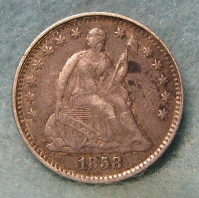 1858 Seated Liberty Silver Half Dime XF * Circulated US Coin *