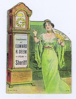 Support Edward R Deem for Sheriff primary 1931 political promo, needles #22