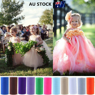 Tulle Roll Spool Kids Tutu Dress Fabric Craft Wedding Birthday Gift Box Wrap
