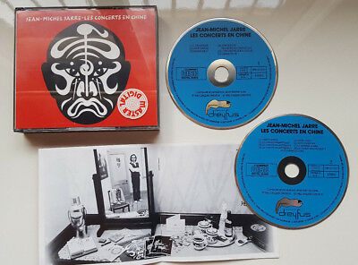 "Jean Michel Jarre ""les Concerts En Chine"" Blue Face Double Cd Set Made In R.f.a."