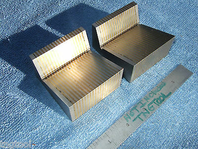 Taft-Peirce Magnetic Transfer V-Blocks Laminated 20* Surface Grintools Precise!