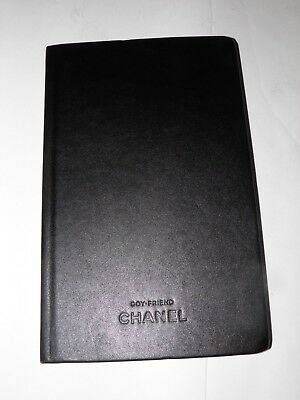 CHANEL Boyfriend Black Leather Agenda Notebook