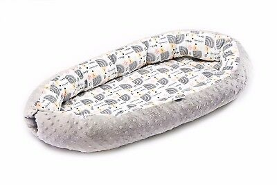 Newborn Baby Cocoon Sleep Nest Cushion Breathable Snuggle Pod - Grey