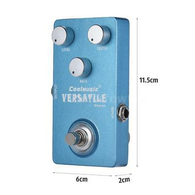 New Analog Chorus Electric Guitar Effect Pedal True Bypass Blue Free Ship Z4A8