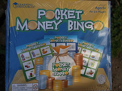 new POCKET MONEY BINGO age 4yrs+ game learning resource - 65 sterling play coins