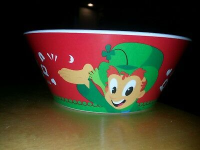 NEW General Mills 2017  4 - CEREAL BOWLS.....LUCKY CHARMS