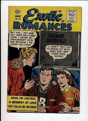 Exotic Romances #25 Vg+ 1956 Quality