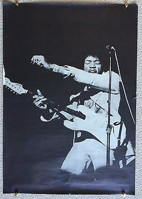 Jimi Hendrix Vintage '60's on Stage Poster- phtographed in NYC by Linda Eastman