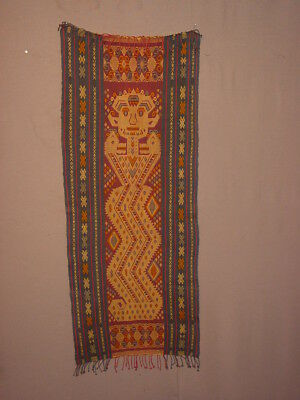 Wonderful S. Antique Indonesian Ulos With Great Supplementary Weft ***hg***