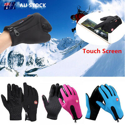 Adult Touch Screen Outdoor Warm Sports Cycling Motorcycle Ski Windproof Gloves