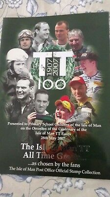 Isle of Man TT All Time Greats 100 Years Stamp Collection Pack