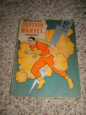Captain Marvel Adventures #3 September 1941 Silver lightning bolt cover