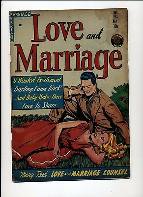 Love And Marriage #11 Good+ 1953 Superior