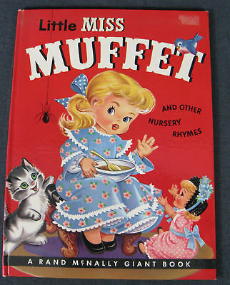 Vintage Little Miss Muffet And Other Nursery Rhymes A Rand Mcnally Giant Book