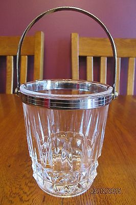 Vintage Cristal D'Arques Durand Tuilleries Villandry Pattern Crystal Ice Bucket