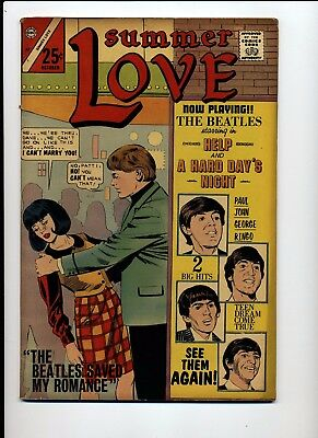 Summer Lover #47 Fn/vf 1966 Charlton Beatles Cover