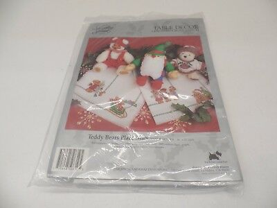 Something Special Teddy Bear Place Mats Cross Stitch 50610 -- New