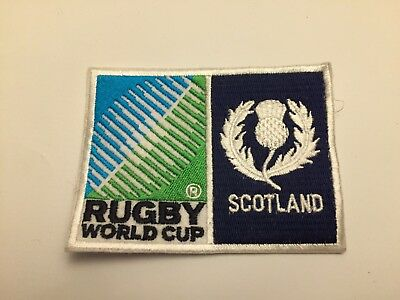 New Rugby World Cup  Badge - Sew on Patch - Scotland 10cm x 7.5cm
