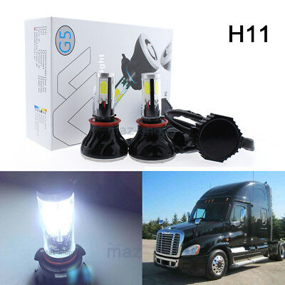 80W White LED H11 Low Beam Headlight Bulb For 2008-2017 Freightliner Cascadia