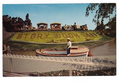 Disneyland postcard Storybook Land & Casey Jr. Train D120