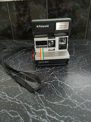 Vintage Retro Polaroid One Step Flash spirit 600 LM instant camera 1980s hipster