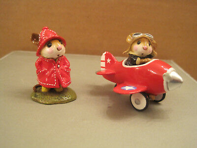 Wee Forest Folk Red Pedal Plane and Red April Showers - Nice Pair
