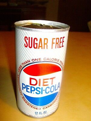 Diet Pepsi Cola Steel Can with Pull Tab, Kenosha WI