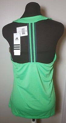Adidas Performance Womens Derby Tank Top Flash Green Size Xlarge New