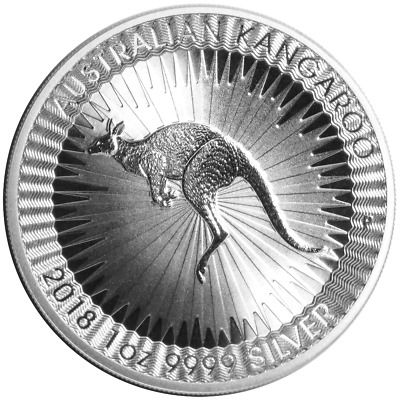 2018-P $1 Silver Australian Kangaroo 1 oz Brilliant Uncirculated