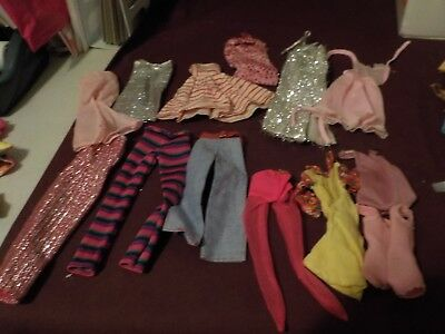 """Vintage Mixed Lot Of 13 Pc Barbie Clothes- Silver Dress """"a"""""""
