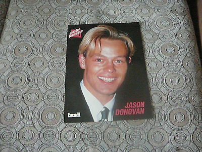 JASON DONOVAN DOUBLE SIDED PIN UP POSTER PHOTO AFFICHE 8 x 11 CLIPPING