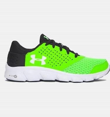 Boy's Youth UNDER ARMOUR RAVE RUN Green+Black Running Casual Shoes 1285436/34