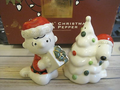 Lenox Charlie Brown Snoopy's Christmas Salt & Pepper Shakers