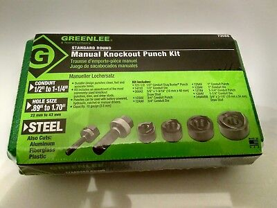 GREENLEE 735BB ROUND KNOCKOUT PUNCH KIT, 1/2 to 1-1/4 In - New In Sealed Box!