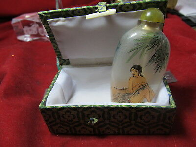Chinese hand painted (inside) Nude Female Snuff Bottle Beautiful unique piece