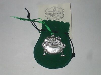 christmas ornament  Mullingar Pewter  made in ireland crock of gold
