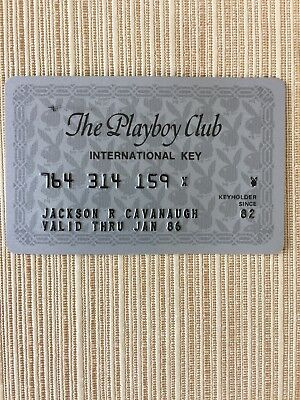 Vintage 1980's The Playboy Club International Key Credit Card Silver