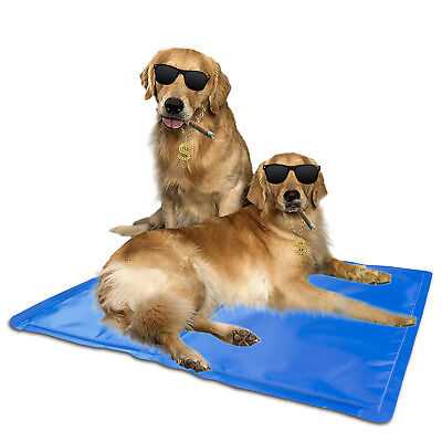 Pet Cooling Gel Mat Pad Dog Cat Bed Non-Toxic Cool Summer Small Large - 5 Sizes