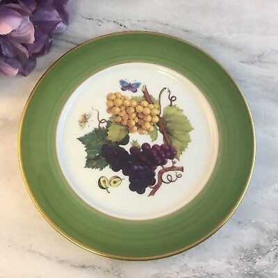 green grapes veritable porcelaine email de limoges dessert fruit plate cad. Black Bedroom Furniture Sets. Home Design Ideas