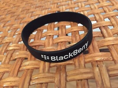 BlackBerry (RIM) Logo Silicone Wristband Sports Bracelet (BLACK) *Promo*SWAG*