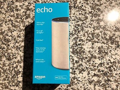 Brand New - Amazon Echo - 2nd Generation 2017 - improved sound by Dolby - silver