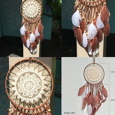 Handmade Dream Catcher with Feathers Car Wall Hanging Art Decoration Ornaments