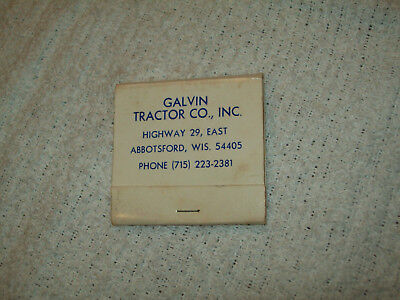 WI Case Tractor Matchbook Galvin Tractor Co Inc  Abbotsford Wisconsin